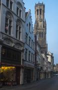 early monring in bruges - stock photo