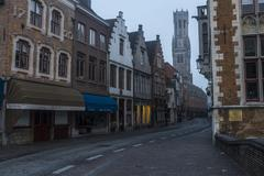 Early monring in bruges Stock Photos