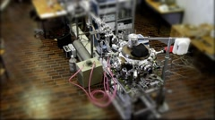 ION ACCELERATOR LAB tilt shift lens Stock Footage