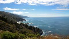 6K Time Lapse of Cloudscape over Central California Coastline -Full Frame- Stock Footage