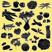 vegetables - stock illustration