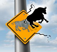 Bull market rise Stock Illustration