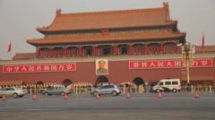 Beijing, China - December 7, 2013: Forbidden City Entrance Tiananmen Square Stock Footage
