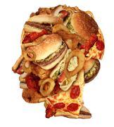 unhealthy diet - stock illustration