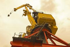 Bottom view of classical cranes Stock Photos