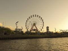 Amusement park and noria Kuvituskuvat