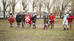 Duel at Russia-Orda XI-XV centuries on Maneuvers East vs West Stock Footage