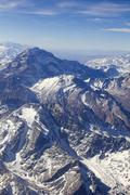 mount aconcagua in argentina (highest pick in america continent) - stock photo