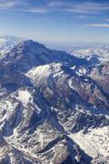 Mount aconcagua in argentina (highest pick in america continent) Stock Photos