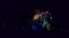 Wide shot of Crackers in city in deepawali 2 - stock footage
