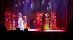 Beijing, China - December 7, 2013: Performers at Chinese Circus - stock footage
