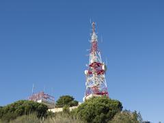 telecommunications antenna - stock photo