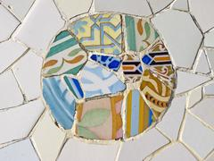 Background of antonio gaudi mosaics Stock Photos
