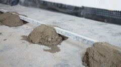 Stock Video Footage of Framework and unset concrete for concrete floor