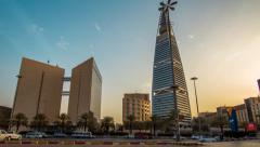 Riyadh Tower Alfaisalah - stock footage