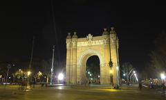 Arch of triumph by night Stock Photos
