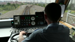 train driver, Railway view  - stock footage
