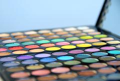 cosmetic palette - stock photo