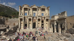 Ephesus Turkey Ancient Library of Celsus Roman HD 029 Stock Footage