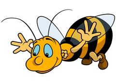 Flying Bumblebee Stock Illustration