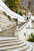 Steps to assumption monastery of the caves, crimea Stock Photos