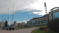 Ottawa City Hall, Flags at Half Mast Stock Footage
