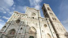 4K Timelapse of Florence Cathedral (Duomo) Stock Footage