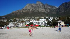 camps bay near cape town, in the western province of south africa - stock photo
