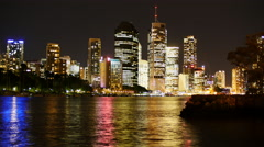 Colors reflected on Brisbane river TL PAL 4K Stock Footage
