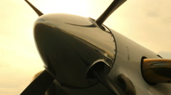Airplane Propeller Spin Up Zoom Out 1080P Stock Footage
