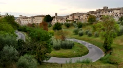 Casole D'Elsa, Siena, Tuscany, Italy (time lapse) Stock Footage