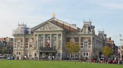 Concert hall Amsterdam establishing shot Stock Footage
