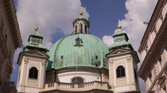 Peterskirche Peter Church Baroque Roman Catholic Parish Building Vienna Landmark Stock Footage
