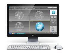 Professional desktop computer workstation Stock Illustration