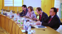 Specialists conduct session during 9-th All-Russian IPO Congress Stock Footage