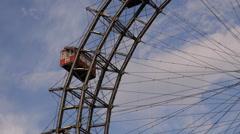 Austrian Biggest Ferris Wheel Austria Vienna City Symbol Prater Amusement Park Stock Footage