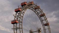 Wurstelprater Ferris Wheel Circle Around Entertainment Place Vienna Pleasure Fun Stock Footage