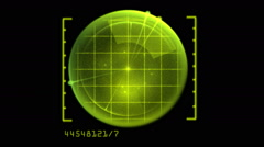 Digital Radar - stock footage