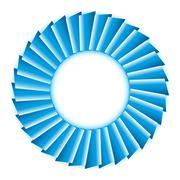 Stock Illustration of blue circle
