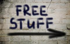 Stock Illustration of free stuff concept