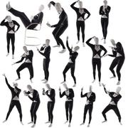 Man mime pose posing Stock Photos