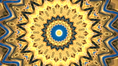 Beautiful sunny kaleidoscopic circle pattern. Stock Footage