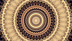 Beautiful ornamental circle kaleidoscopic pattern. Stock Footage