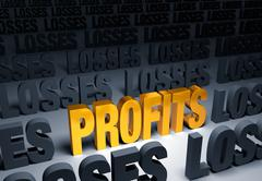 profits! - stock illustration