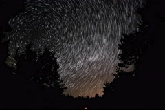 6K. Time lapse of stars behind mountain Tarahtash, Yalta, Crimea Stock Footage