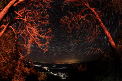 6K. Time lapse of stars behind mountain. Sokolinoye, Crimea Stock Footage