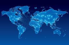 Global communication - stock illustration