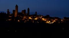 San Gimignano, Tuscany, Italy (time lapse) Stock Footage