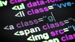 Html code. Stock Footage