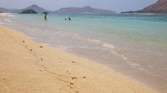 Deserted beach. Stock Footage